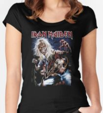 iron maiden Women's Fitted Scoop T-Shirt
