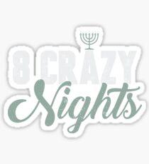 8 Crazy Nights Menorah Chanukah Hanukkah Jewish  Sticker