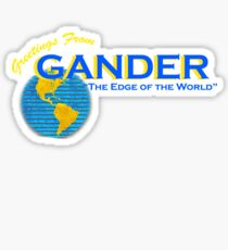 Greetings From Gander Sticker