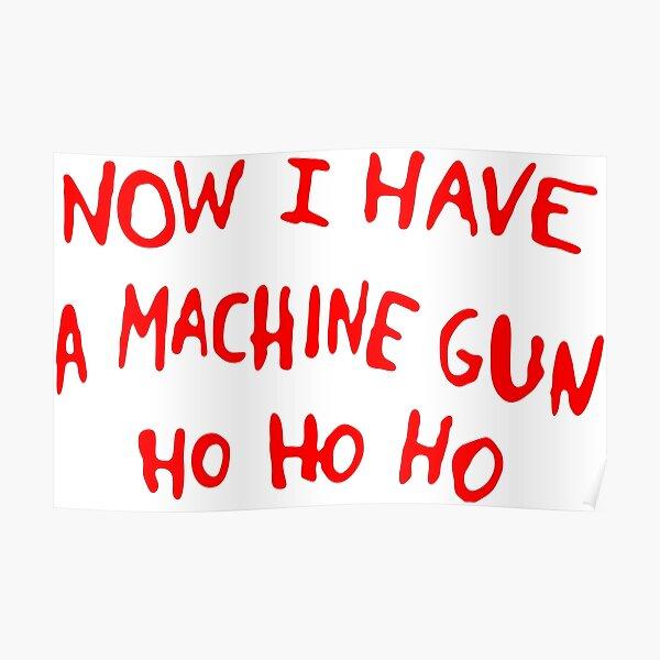 Die Hard christmas Jumper Poster
