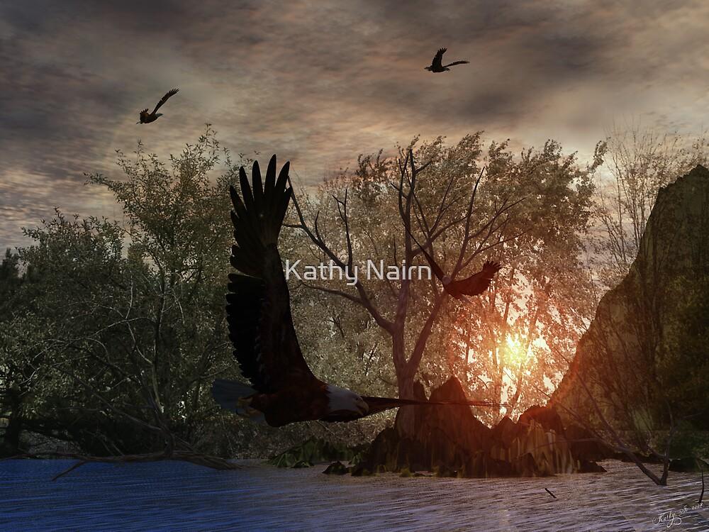 Sunset on Eagle Lake by Kathy Nairn