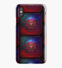 Kali Yantra with the Great Fifteen-Syllable Mantra  iPhone Case/Skin