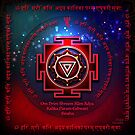 Kali Yantra with the Great Fifteen-Syllable Mantra  by art-by-angels
