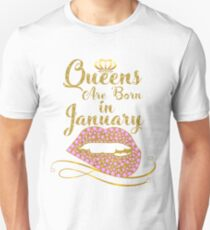 Queens are born in January Best T-Shirt cute colorful T-Shirt