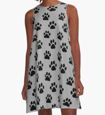 Dog Paw Print(s) A-Line Dress