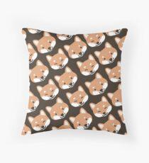 Cute Shiba Inu Face(s) Throw Pillow
