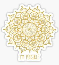 I'm Possible - Mandala - 99Oz Sticker