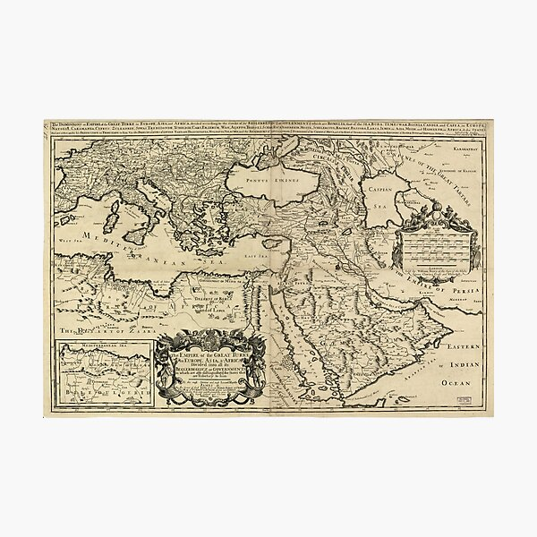 Map of the Ottoman Empire (1680) Photographic Print