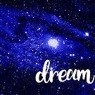 Blue Galaxy Dream by julieerindesign