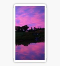 lavender sky Sticker