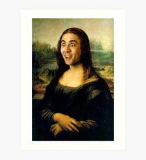 Mona Lisa ~ Nicolas-Käfig Kunstdruck
