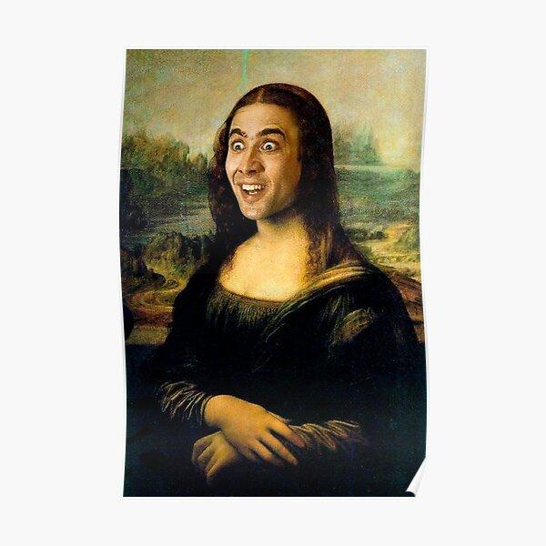 """Français: La Joconde [la ʒɔkɔ̃d]) est une peinture de portrait de demi-longueur par l'artiste italien de la Renaissance Leonardo da Vinci qui a été décrit comme """"le plus connu Poster"""