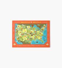 Waffle World Map Art Board