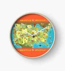 Waffle World Map Clock