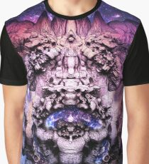 "FistVision: ""Cosmic Goddess"" Psychedelic Space Art T-Shirt Graphic T-Shirt"