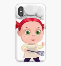 Cute Girl Cooking Funny iPhone Case/Skin