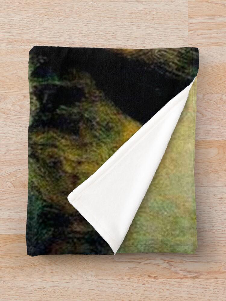 Alternate view of Mona Lisa ~ Nicolas Cage Throw Blanket