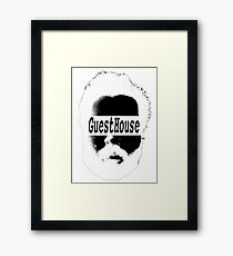 GuestHouse Face Logo White Framed Print