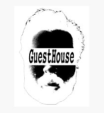 GuestHouse Face Logo White Photographic Print