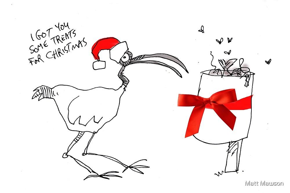 Bin chicken xmas by Matt Mawson