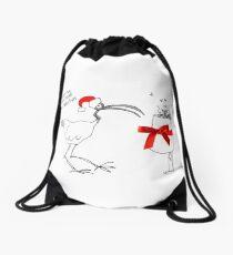 Bin chicken xmas Drawstring Bag