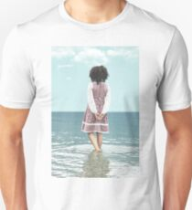 walking in water Unisex T-Shirt