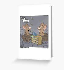 Hashtag Just Bat Problems. Greeting Card