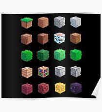 Minecraft Blocks Poster