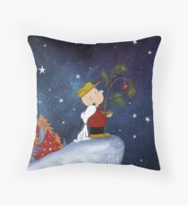 Snoopy And Charlie Throw Pillow