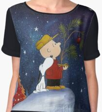 Snoopy And Charlie Women's Chiffon Top