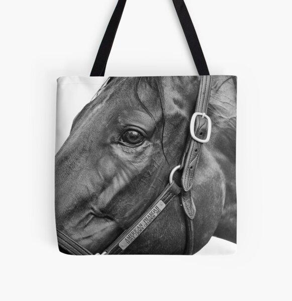 American Pharoah - Champion Racehorse All Over Print Tote Bag