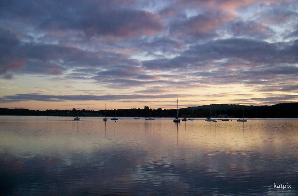 Lake Reflecting Sky by katpix