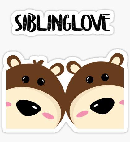 Twins teddy bears sibling love Sticker