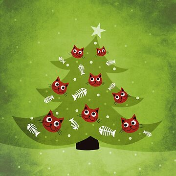 Cat Christmas Tree by azzza