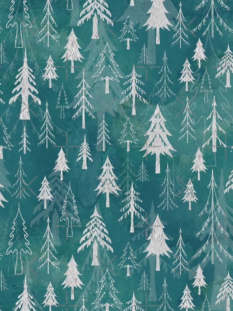Christmas tree mix in arctic blues by adenaJ