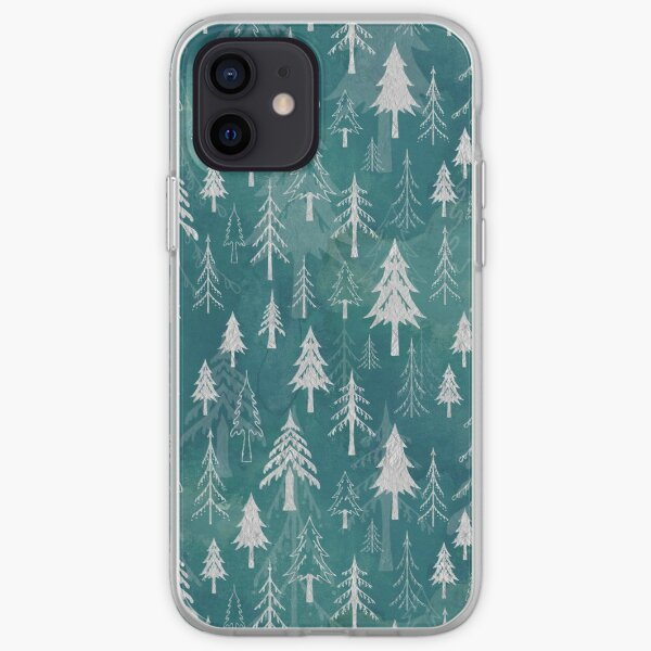 Christmas tree mix in arctic blues iPhone Soft Case