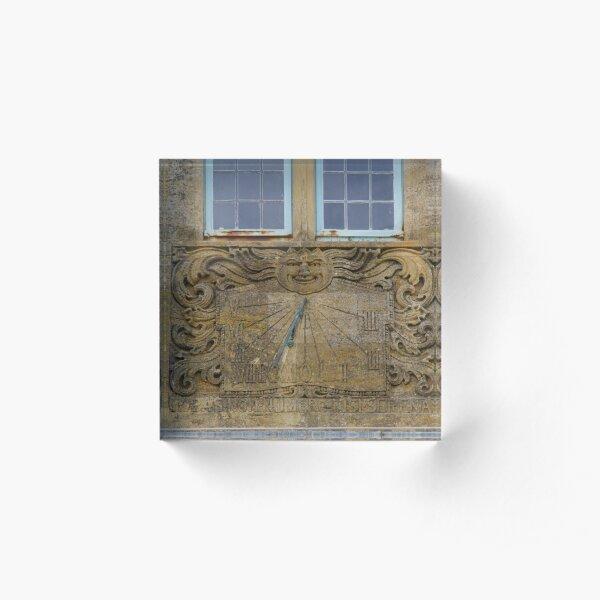 Sun Dial, Lyme Regis Acrylic Block