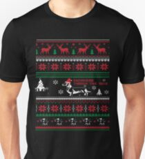Dachshund through the snow christmas  Unisex T-Shirt