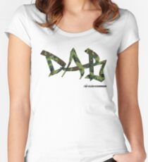 DAB camo Women's Fitted Scoop T-Shirt