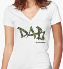 DAB camo Women's Fitted V-Neck T-Shirt