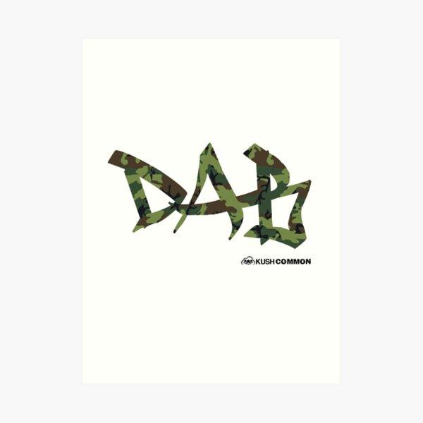 DAB camo Art Print