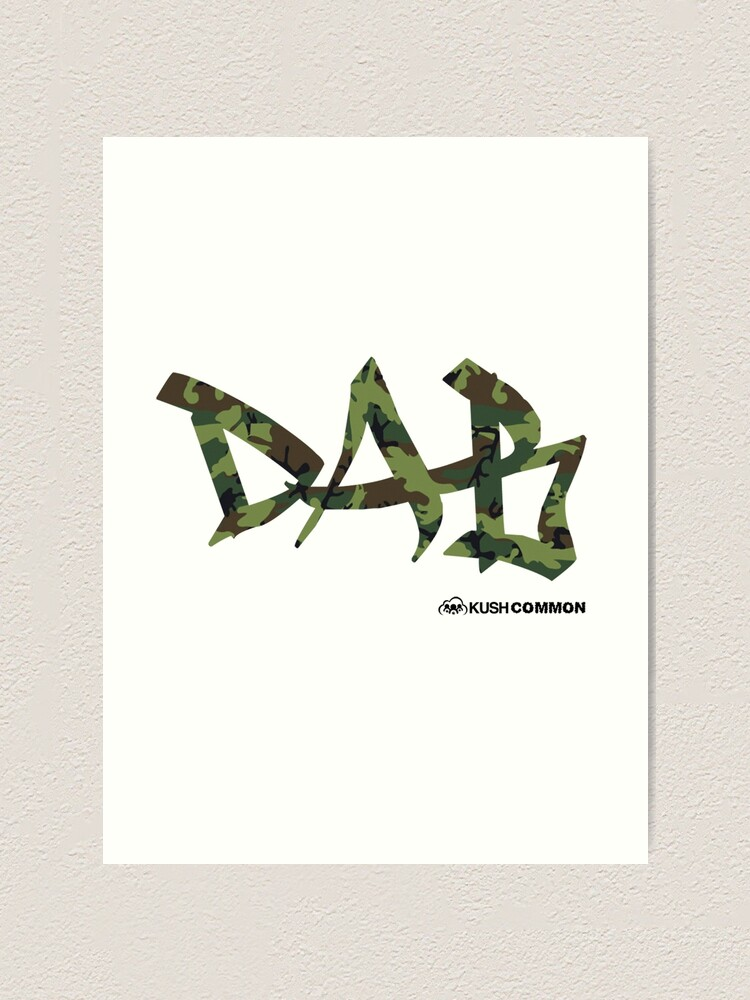 Alternate view of DAB camo Art Print