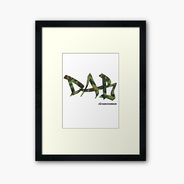 DAB camo Framed Art Print