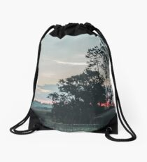 Farm Sunset Drawstring Bag