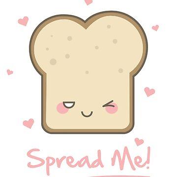 Kawaii Toast Breakfast Love by Sublantis