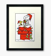 Snoopy Christmas Framed Print