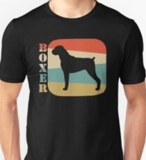 Boxer Dog Shirt Vintage Retro Style T-shirt  T-Shirt