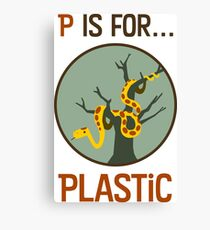 P Is for Plastic Canvas Print