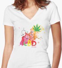 CBD Splash Fitted V-Neck T-Shirt