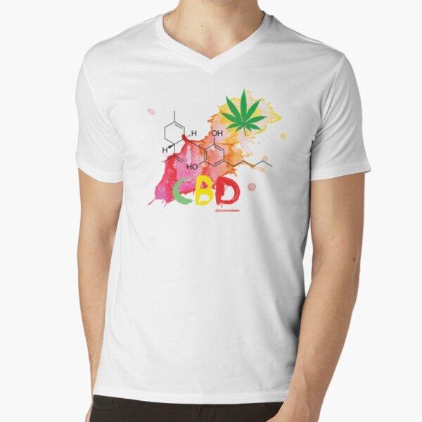 CBD Splash V-Neck T-Shirt